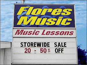 Flores Music Sign
